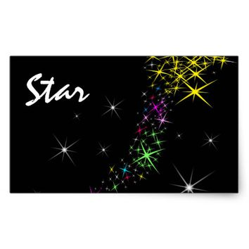 Christmas Star Rectangular Sticker