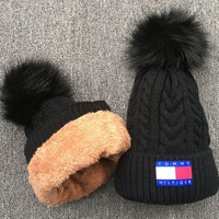 DCCKUN3 Tommy Knit And Pom Hat Cap