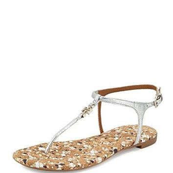 Tory Burch Marion Quilted Sandal in Silver (11)