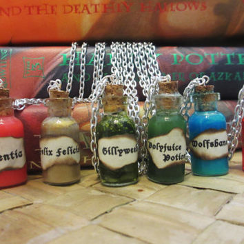 Harry Potter Potion Charm Necklace -  Homemade