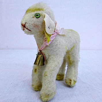 Vintage Steiff Original Lamby Lamb With Bell