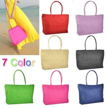 ASDS Hot New Design Straw Popular Summer Style Weave Woven Shoulder Tote Shopping Beach Bag Purse Handbag