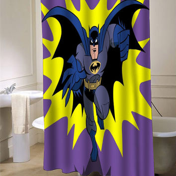 Batman Old Retro Shower Curtain - from myshowercurtains.com