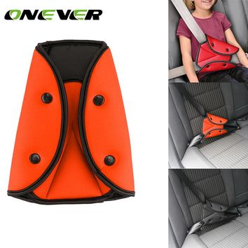 1Pcs Triangle Car Safe Fit Seat Belt Sturdy Adjuster Car Safety Belt Adjust Device Triangle Baby Child Protection
