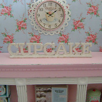 CUPCAKE PATISSERIE BAKERY - Shabby Wooden Sign  - Dollhouse Miniature 1/12 th Scale