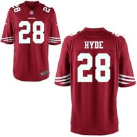 Carlos Hyde San Francisco 49ers Nike 2014 NFL Draft #2 Pick Game Jersey - Scarlet