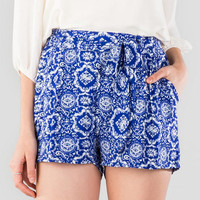 Elling Printed Tie Shorts