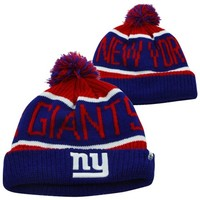 '47 Brand New York Giants Calgary Cuffed Knit Hat - Royal Blue/Red