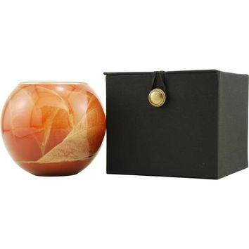 TERRA COTTA CANDLE GLOBE by TERRA COTTA CANDLE GLOBE THE INSIDE OF THIS 4 in POLISHED GLOBE IS PAINTED WITH WAX TO CREATE SWIRLS OF GOLD AND RICH HUES AND COMES IN A SATIN COVERED GIFT BOX. CANDLE IS FILLED WITH A TRANSLUCENT WAX AND SCENTED WITH MYSTERIA