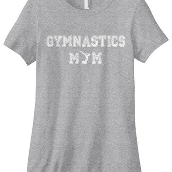 Gymnastics Mom T-shirt - Gray
