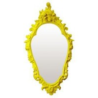 One Kings Lane - Citrus Hues - Looking-Glass Mirror, Yellow