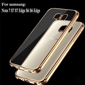 Coque transparent For samsung galaxy S6 Edge S6 S7 S7 Edge Case