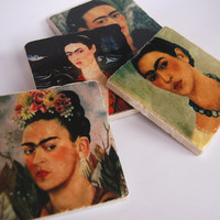 Frida Kahlo - stone coaster set