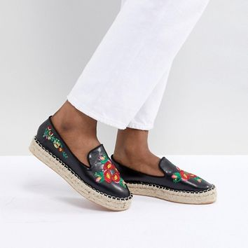 Truffle Collection Embroidered Espadrille at asos.com