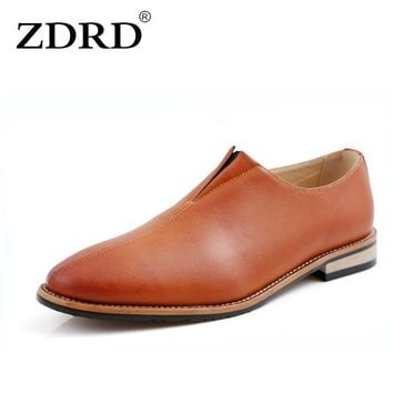ZDRD fashion Mens italian mens leather shoes brands formal shoes male brands dress oxford shoes for men Party Dress Wedding Shoe
