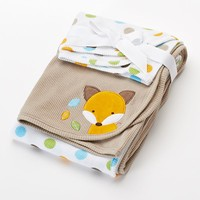 Just Born 2-pk. Fox Receiving Blankets