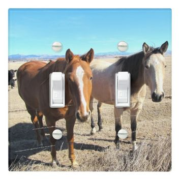 Two Horses Lightswitch Cover