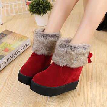 On Sale Hot Deal Height Increase Winter With Heel Boots [9432933386]
