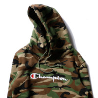 champion Women/Men Fashion Long Sleeve Camouflage Pullover Sweater Sweatshirt Hoodie