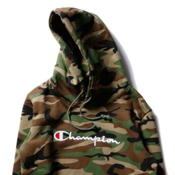 e6ac484b500 champion Women Men Fashion Long Sleeve Camouflage Pullover Sweat