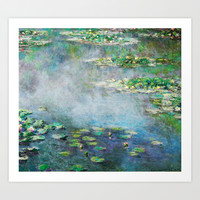 1906 Water Lily oil on canvas by Claude Monet. Art Print by ArtsCollection