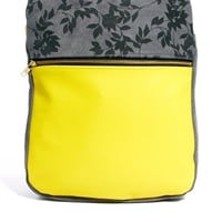 J&P | J&P Color Block Leather & Suede Backpack at ASOS