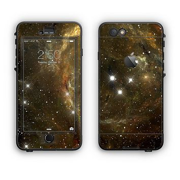 The Glowing Gold Universe Apple iPhone 6 LifeProof Nuud Case Skin Set