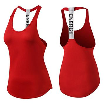Women Sports Yoga Top Fitness Gym Tank sleeveless t shirt