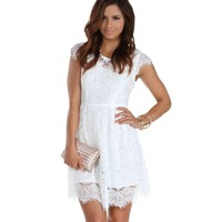 Sale- White Lace Charmer Dress