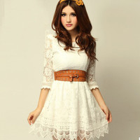 New sweet lady floral lace skirt LYQ0016 ((not process order until 22nd Fed 2013)