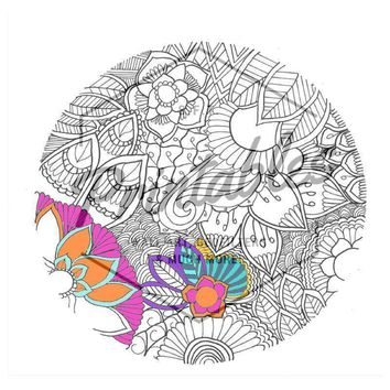 Print-at-Home Mandala Coloring Book Page for Kids & Adults