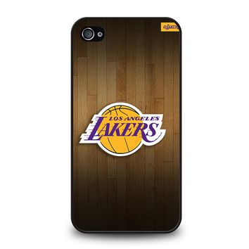 LA LAKERS BASKETBALL WOODEN iPhone 4 / 4S Case