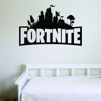 Fortnite Wall Decal Quote Home Room Decor Decoration Art Vinyl Sticker Funny Gamer Gaming Nerd Geek Teen Video Game Kids
