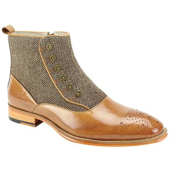 "Giovanni ""Edison"" Side Zipper Tweed Spat Boot"