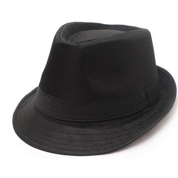 Fashion bowler Jazz hat Stetson men's caps brim Europe style foldable for women vintage Panama free shipping