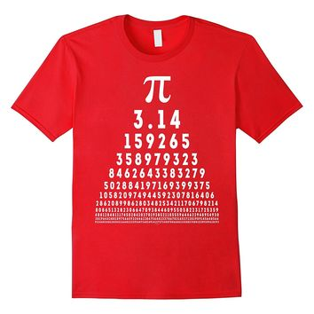 Pi Day Shirts 2018 for Techies Math Nerds Geeks Vision Test