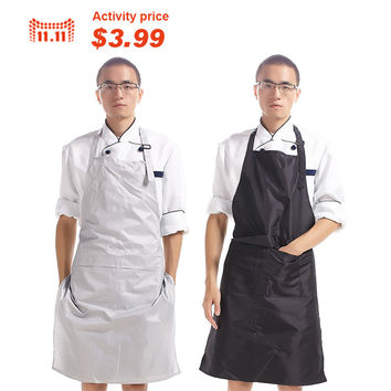 Hot Sale PVC Waterproof Cooking Kitchen Apron Men Long Section Simple Antifouling Male Chef Apron Adult Bib Apron For Men