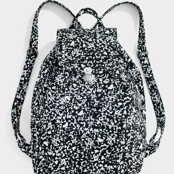 Canvas Backpack: Black Static