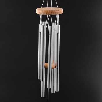 Garden Ornaments D75B Amazing Deep 4 Tubes Windchime Chapel Melody Bells Wind Chimes Yard Home