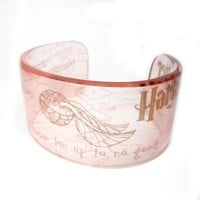 Harry Potter Inspired Cuff Graphic Clear Resin Cuff by BuyMyCrap