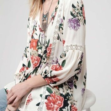 Tides of March Floral Blouse