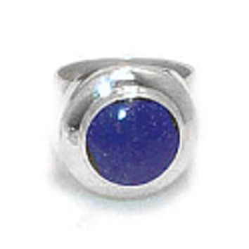 Round Chevalier Sterling Silver Ring