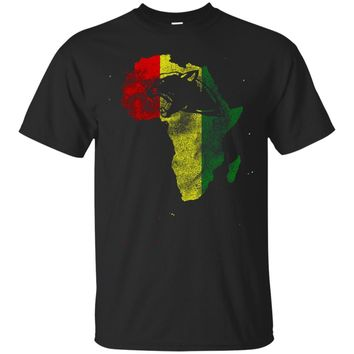 Black Panther head Shirt - Silhouette in African country