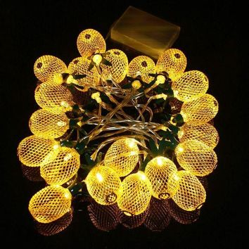 LMF4AX 130cm Metal Pineapple Shaped Lanterns 10 LED String Light Christmas Battery LED Fairy String Lights Best For Wedding Party