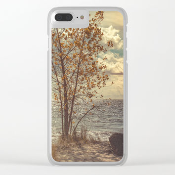 When You Start To Fall Clear iPhone Case by Faded  Photos