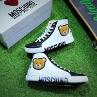 DCCKU62 MOSCHINO VITELLO Zipper Casual Shoes