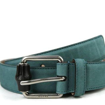 Gucci Men's Leather / Suede Bamboo Buckle Belt 336827