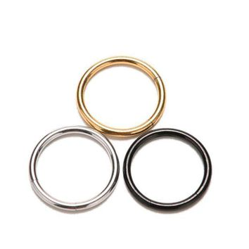 ac PEAPO2Q Hoop Ear Tongue Rings For Women Girl 10 mm Piercing Segment Hinged Rings New Labret Lip Nose Piercing Jewelry 3 Colors 1 Pc