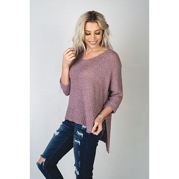 The Hayley Sweater in Dusty Lilac