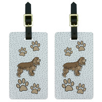 Cocker Spaniel of Radiance Luggage Tag Set